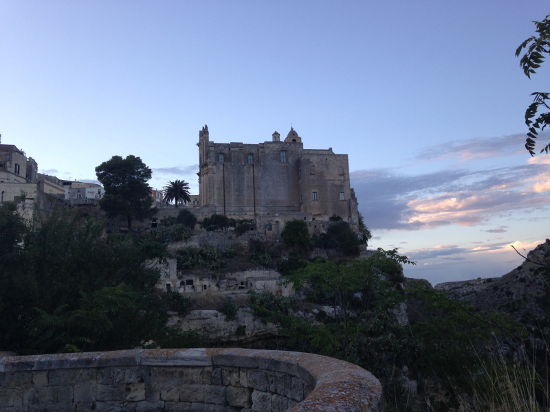 The Castle Covered by the Evening Sunset